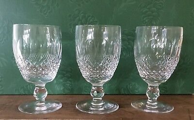 Waterford Colleen Crystal Set Of 3 Short Stem Claret Wine Glasses 4 3/4""
