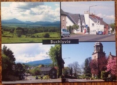 Buchlyvie Main Street Station Road Stirling Scotland Multi View Postcard