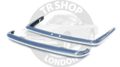 Triumph TR6 Early Stainless Steel Bumper set - In Stock TR Shop Chiswick W4 1TH