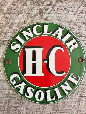 SINCLAIR GASOLINE PORCELAIN VISIBLE GAS PUMP PLATE OR LUBESTER SIGN. Gas / Oil
