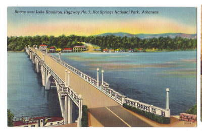 Bridge Lake Hamilton  Hot Springs National Park  Arkansas   unused
