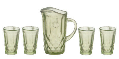 Green Pitcher & Four Glasses, Part Assemble Required, Dolls House Miniature