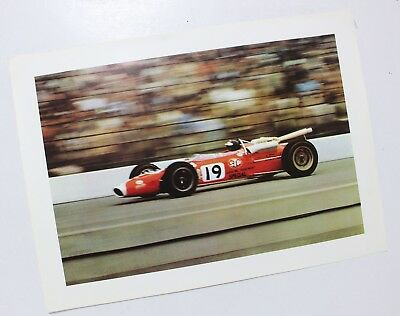 Jim Clark 1966 Ford Lotus F1 Indy Racing Poster 2nd Place Winner USAC USRRC SVRA