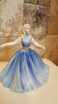 "Royal Doulton Jennifer Light Blue Dress 1981 HN2392 (7 1/2"" Tall)"