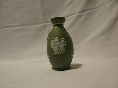 Wedgwood Antique Jasperware olive colored urn