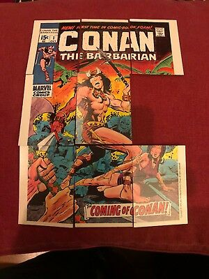 1976 Topps Marvel 8 Checklist Cards Conan Mint Condition