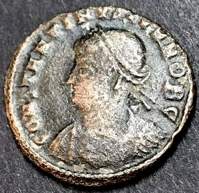 Constantine II AE3. Ancient Roman Imperial Coin. Camp gate Reverse.