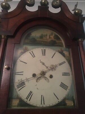 "Antique Mahogany Hunting Dial ""  Sleaford  ""   Longcase /grandfather Clock"
