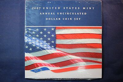 2007 United States US Mint Annual Uncirculated Dollar Coin Set - SEALED
