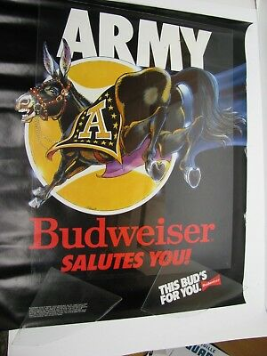 Army This Buds For You Poster Budweiser Mule Football Basketball Mascot