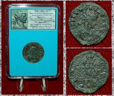 Ancient Roman Empire Coin Of PROBUS Pax Holding Branch On Reverse Antoninianus