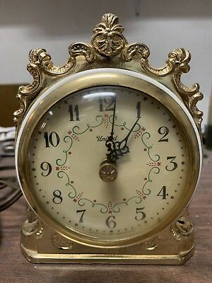 Vintage Electric United Clock, Anniverars Clock Model 975, Top Clock Part Only