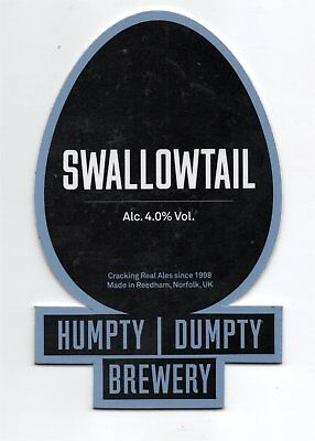 Beer pump clip front. Humpty Dumpty Brewery, SWALLOWTAIL,