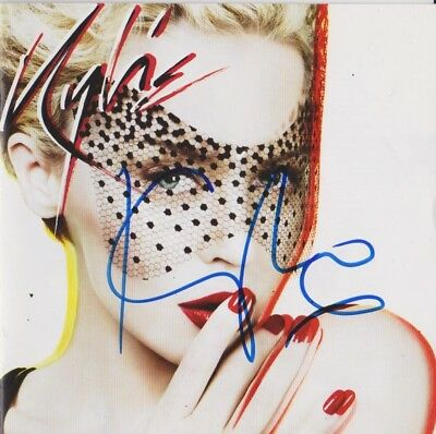 Kylie Minogue Signed X CD AFTAL