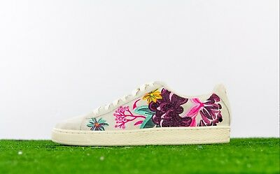 7b5da58041ce Puma Suede Hyper Embroider Women s Shoes Whisper White Orchid 368137-01 Sz.  10