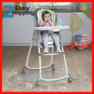 "50"" Inch Baby High Chair Infant Toddler Feeding Floor Protector Floor Mat Clear"