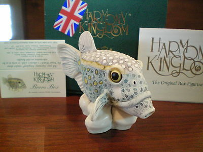 "Harmony Kingdom Boom Box Boxfish ""Neutron Bomb"" UK Made Box Figurine NIB"