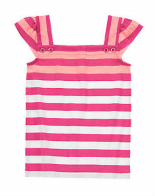 NWT Gymboree Girl BRIGHT AND BEACHY Pink Striped Knit Shirt  Size 6