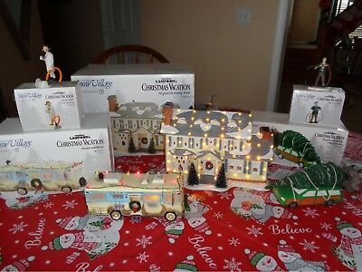 Dept. 56 Snow Village National Lampoon's Christmas Vacation 5 Piece Set New