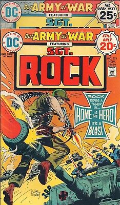 "Dc Our Army At War Sgt. Rock  #274,276 Nov 74,jan 75  ""gallery Of War!""  Kubert"