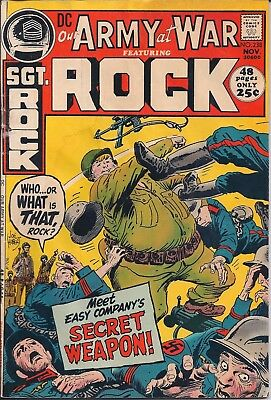 "Dc Our Army At War Sgt. Rock  #238 Nov 71""big War..little War!"" Joe Kubert 48Pgs"