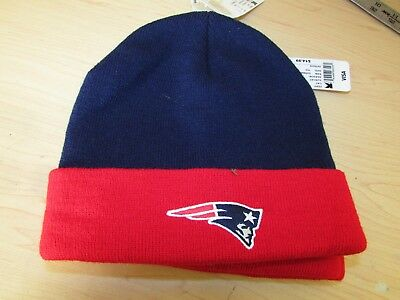 ecf400e8f08d5 NFL New England Patriots Navy-Red Winter Hat Scull Cap Beanie Cuffed Hat NWT