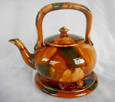 Scottish Pottery Dunmore Teapot + Teapot Stand ~ Beautiful Display Condition !