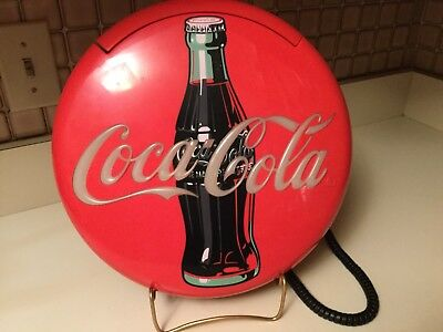 "Vintage Coca Cola 12"" Disc Telephone 1996"