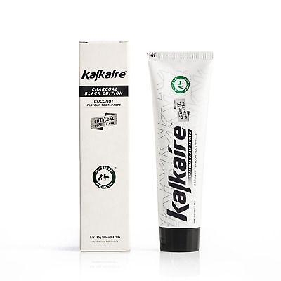Premium Kalkaire 100ml Activated Charcoal Natural Teeth Whitening Toothpaste...