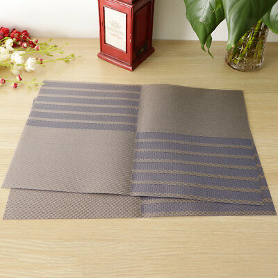 2x Tapis d'isolation en PVC Table à manger Cuisine Set de table Place Mat