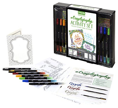 Crayola Beginner Hand Lettering Kit with Tutorials, Easier Than Calligraphy, 45