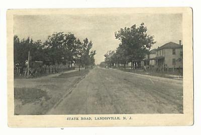 NJ Landisville New Jersey State Road Buena Borough Atlantic County Postcard LotB