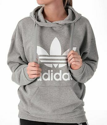 New Adidas Originals Women s Trefoil Hoodie ~Size Xl  bk7141   Bp9486 Grey 96098bfc86a