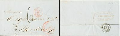 Cuba about. Yv . 1852. Havana to Bordeaux. Aimed to New York by the Agen