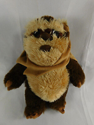 "Star Wars Wicket W. Warrick The Ewok 9"" Plush Toy Disney Parks Store Ex. Cond."