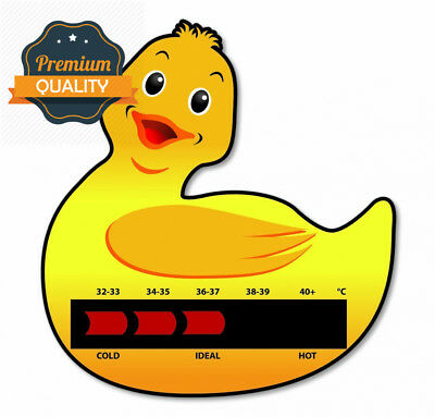 Duck Baby Bath Thermometer Card With New Moving Line Technology - Ensure...