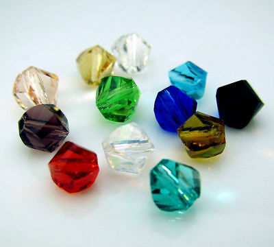 Colors Loose Findings glass Pointed Crystal beads Czech 50pcs spacer Mixed 6mm