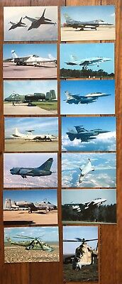 MODERN MILITARY AIRCRAFT Post Cards - Aeroplane  Postcard 747 Fighter Jet Plane
