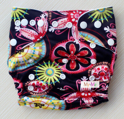 Baby Boy Girl Cloth Diaper One Size Adjustable Hip Snaps Nappy Pocket Cover H21