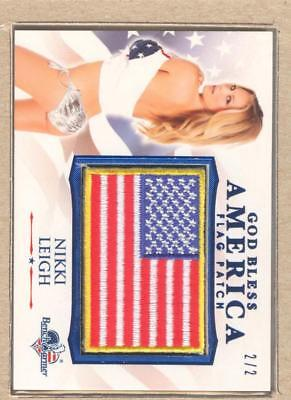 Nikki Leigh 2017 Bench Warmer America Beautiful God Bless Flag Patch Blue 2/2