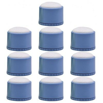 10X Dental File Disinfection Acupuncture Cleaning Box Round Endo Stand Blue