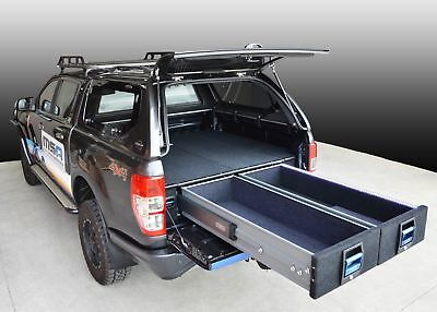MSA 4x4 Double Drawer System suitable for Navara 250Kg Heavy Duty