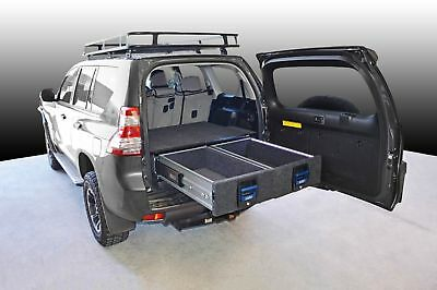 MSA 4x4 Double Drawer System suitable for Prado 150 - 250Kg Heavy Duty