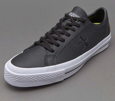 Converse One Star Leather Ox Low Top Black/Black-White Mens Size 8.5 153714c New