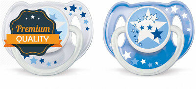 Philips Avent Night-Time Soothers 6-18m - SCF176/22 - (1 PACK, 2 SOOTHERS)