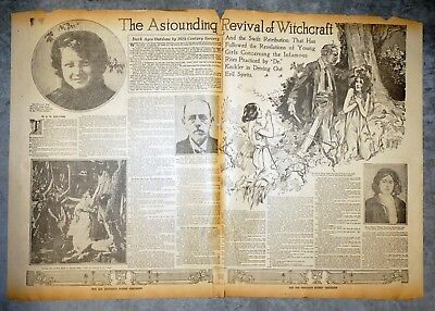 1921 Double Page Feature - Lemasters Pennsylvania Witchcraft Doctor John Keckler