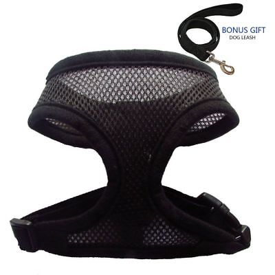 Soft Mesh Dog Harness No Pull Comfort Padded Vest for Small Pet Cat Puppy Sz S