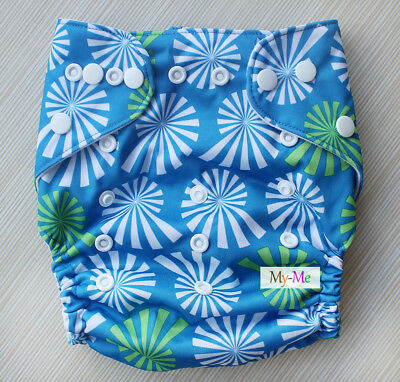 Baby Boy Girl Cloth Diaper One Size Adjustable Hip Snaps Nappy Pocket Cover H16