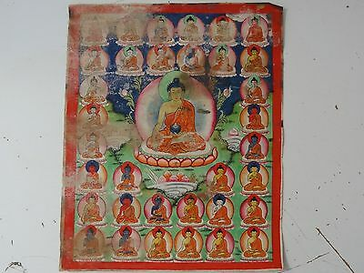 Antique   Mongolian Buddhist Thangka Painting