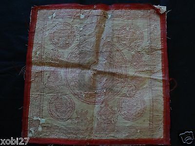 Antique Mongolian Buddhist  Large Woodblock Amulet  Print